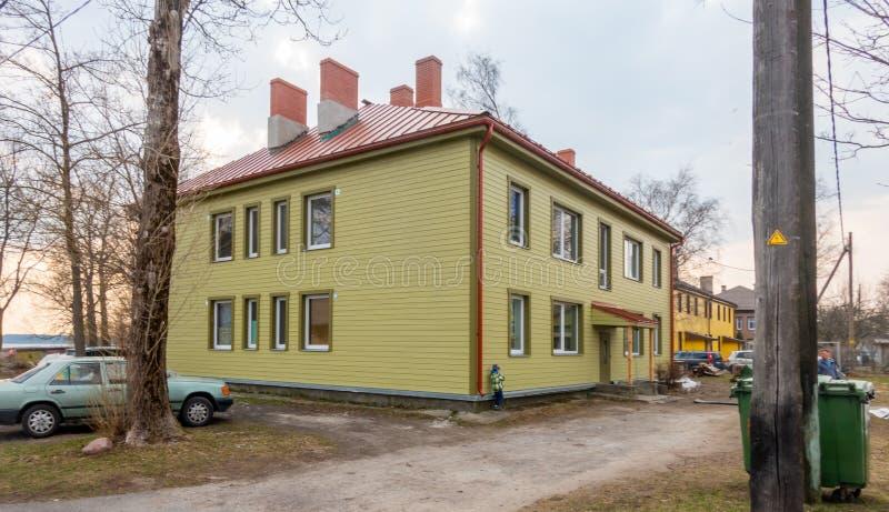 Stadt distric Kopli Estlands Tallin lizenzfreie stockfotografie