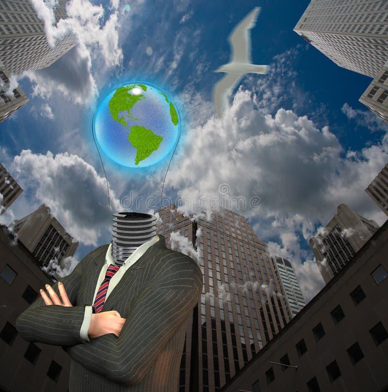 Stadt-Erde-Idee lizenzfreie abbildung