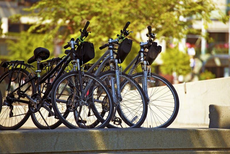Stadt-Fahrräder lizenzfreies stockfoto