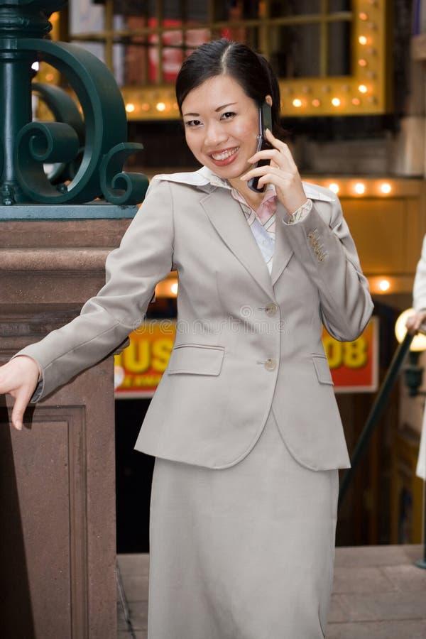 Stadt-Geschäftsfrau stockbild