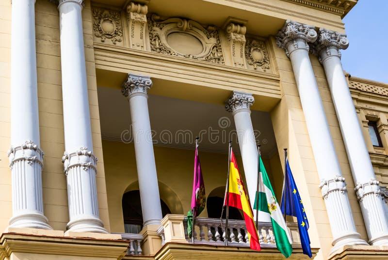 Stadt Hall Ayuntamiento Malaga Andalucia Spain stockfotos