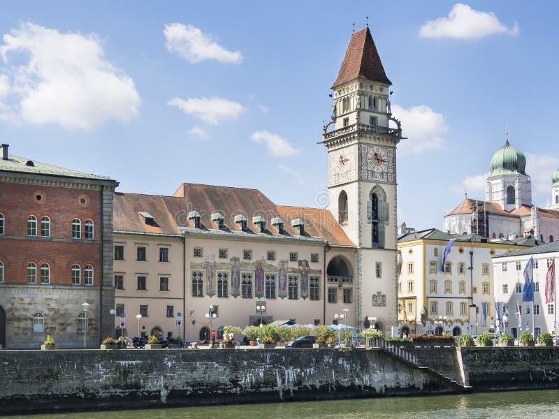 Stadt Hall Passau stockbild