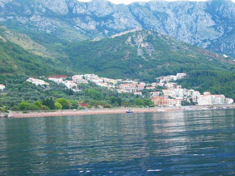 Stadt Herceg Novi in Montenegro-Reise in dem Meer lizenzfreies stockfoto