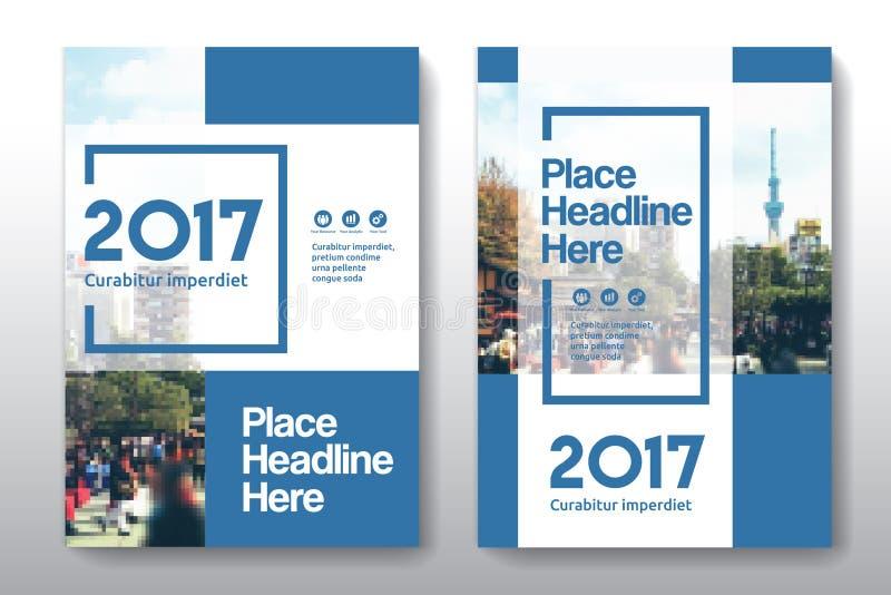 Stadt-Hintergrund-Geschäfts-Bucheinband-Design-Schablone in A4 vektor abbildung