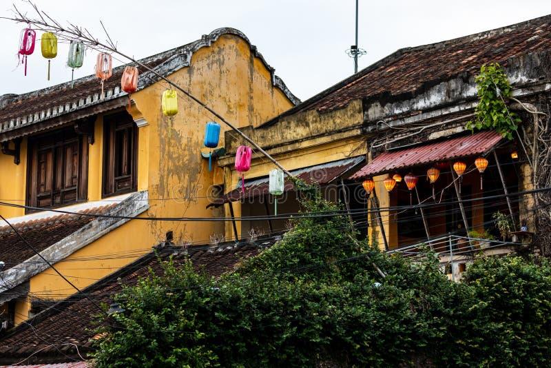 Stadt Hoi An in Vietnam stockbilder