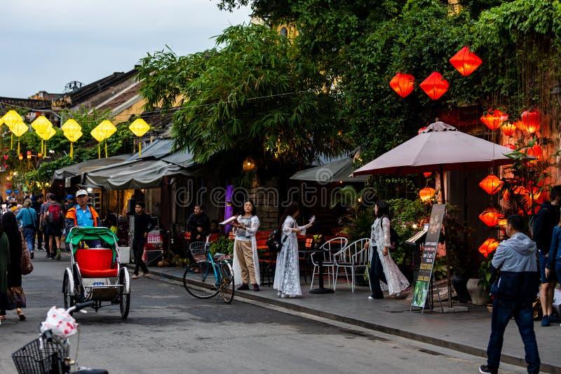 Stadt Hoi An in Vietnam lizenzfreie stockfotos