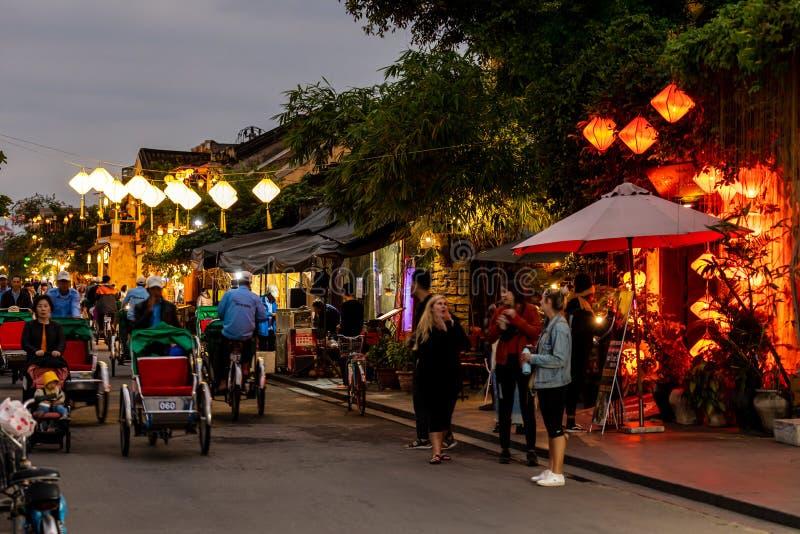 Stadt Hoi An in Vietnam stockbild