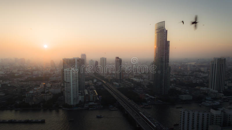 Stadt im Evining stockfoto
