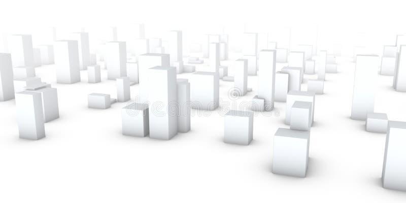 Stadt im Nebel vektor abbildung