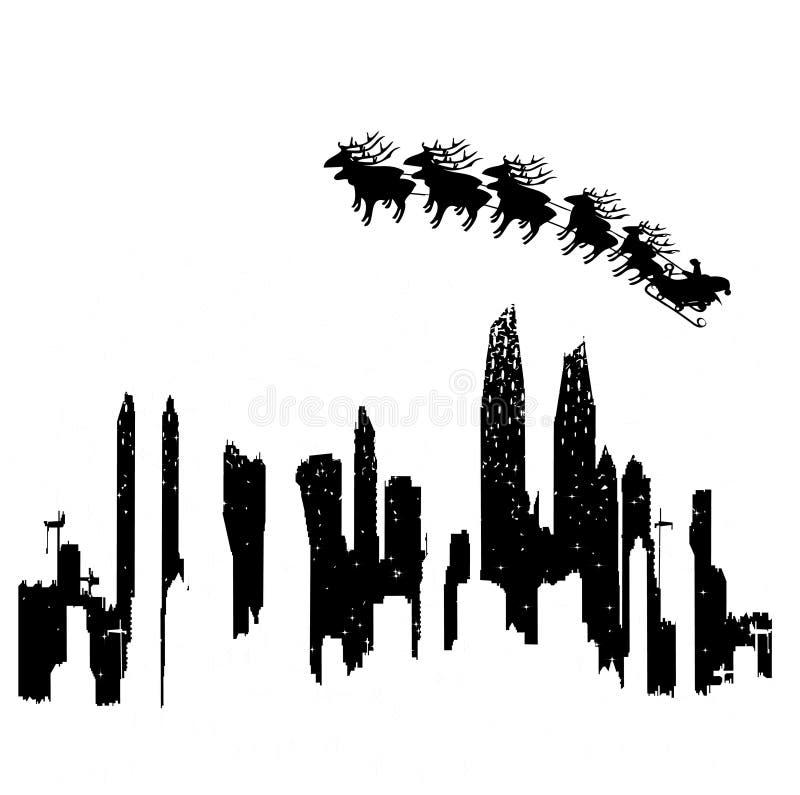 Stadt im Winter vektor abbildung