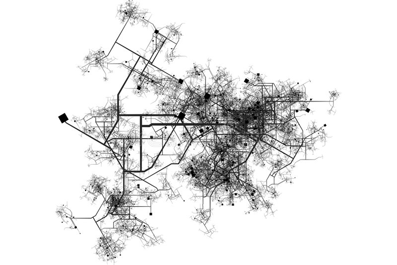 Stadt-Karten-Lichtpause vektor abbildung