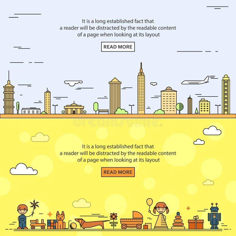 Stadt, Kind-` s Spielwaren lizenzfreie stockbilder