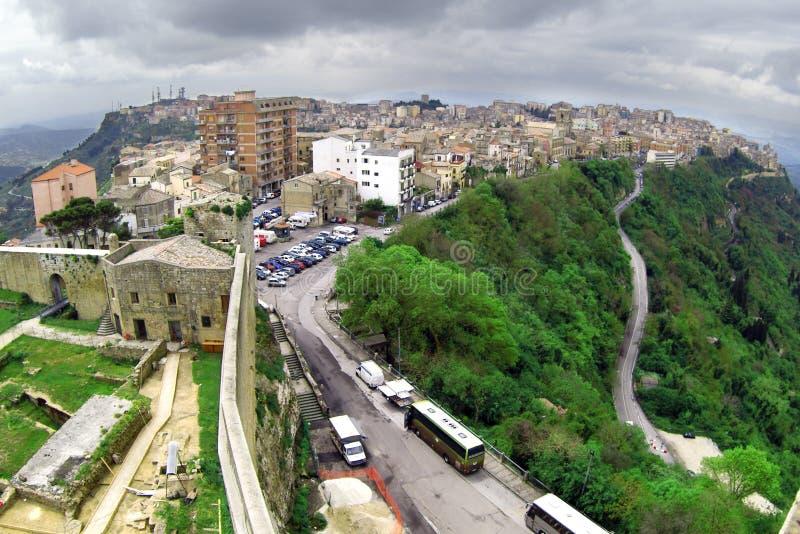 Stadt klassischen alten Italien-, Enna stockbilder
