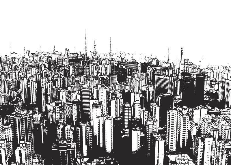 Stadt-Landschaft lizenzfreie abbildung