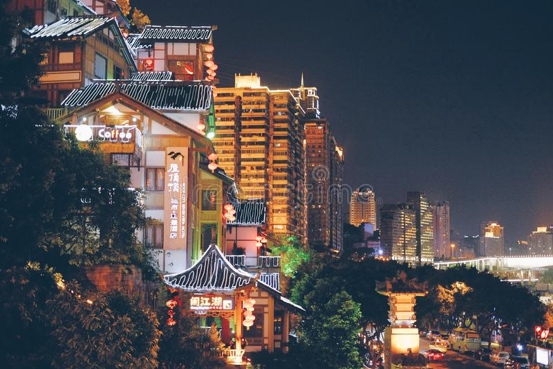 Stadt-Leuchten stockbild