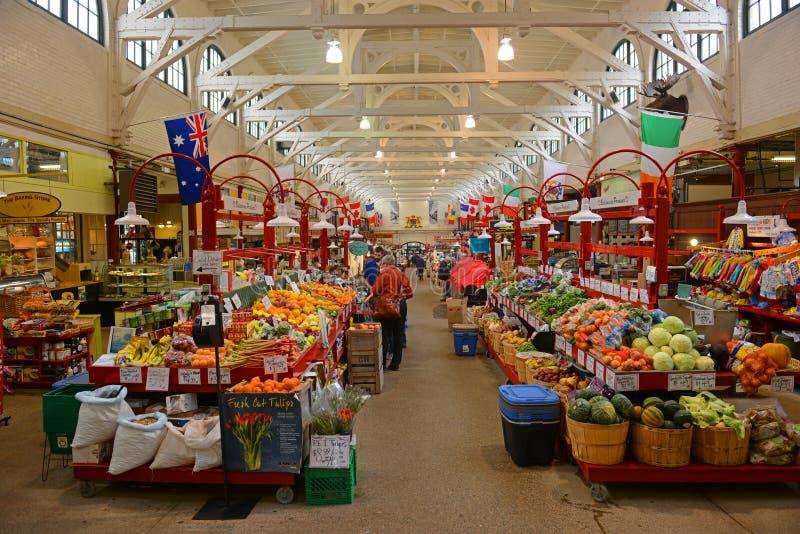 Stadt-Markt in Johannes, New-Brunswick, Kanada lizenzfreie stockbilder
