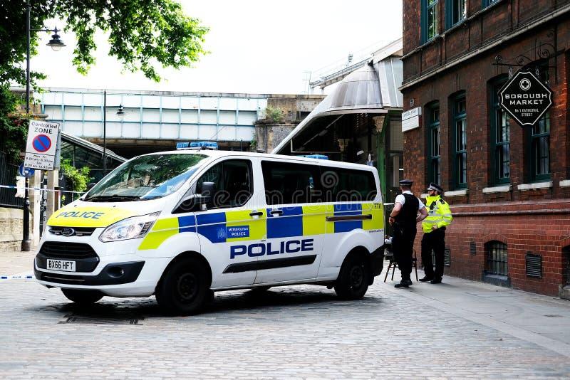 Stadt-Markt-Terrorist Attack lizenzfreies stockbild