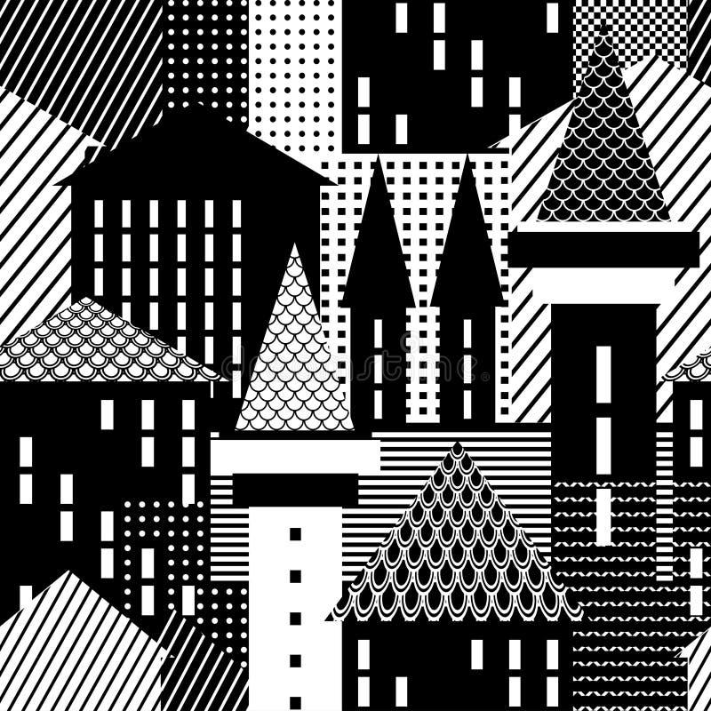 Stadt. Nahtloses Muster. stock abbildung
