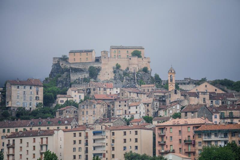 Stadt oder Corte in Korsika lizenzfreies stockfoto