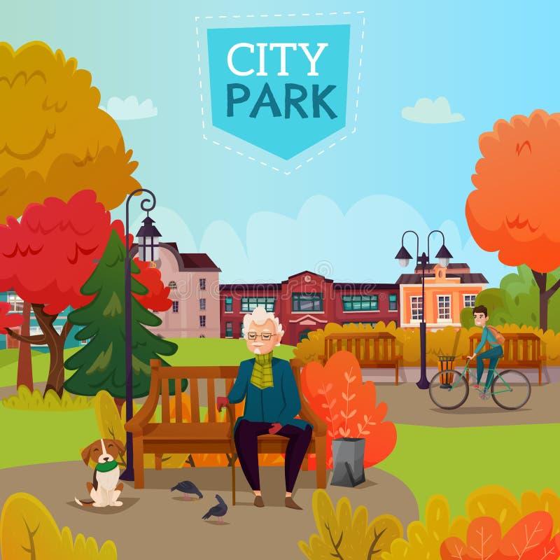 Stadt-Parkillustration vektor abbildung