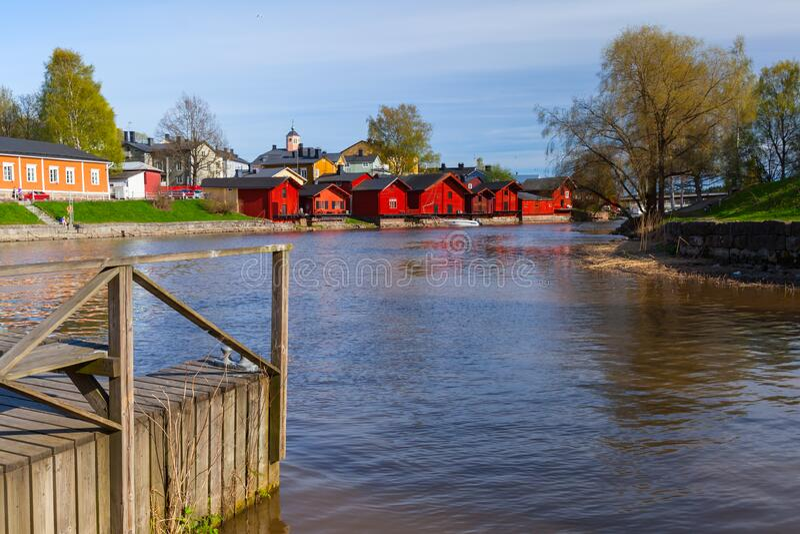 Stadt Porvoo, Finnland stockbilder