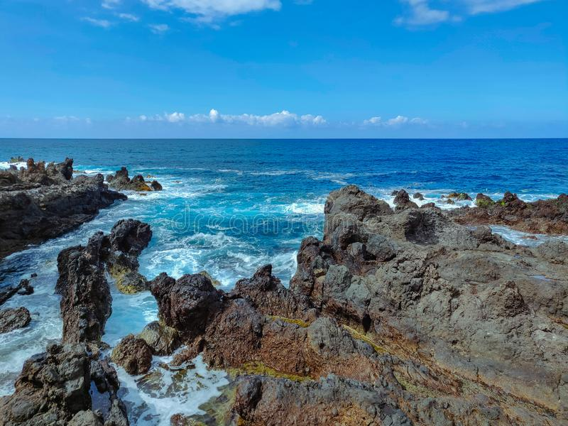 Stadt Punta Brava auf Teneriffa-Insel lizenzfreies stockfoto