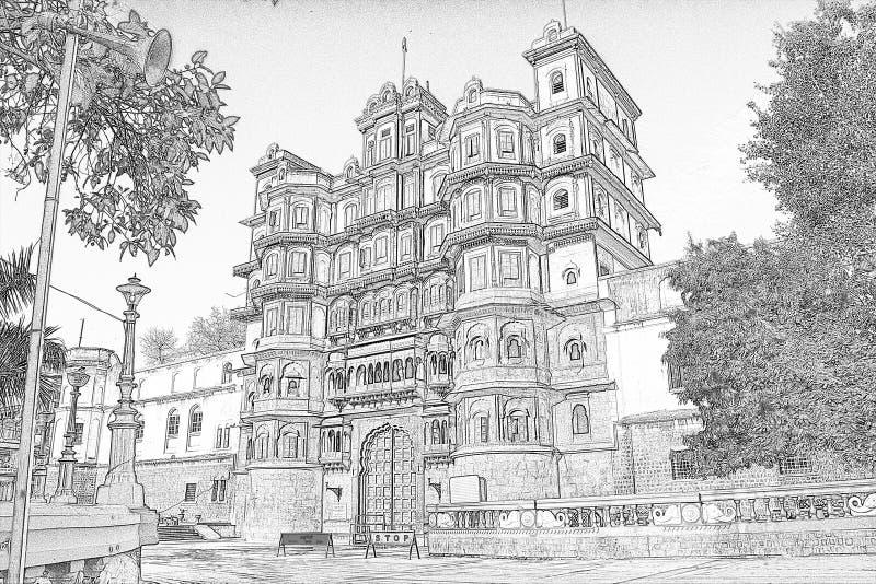 Stadt Rajbada Indore stockbilder
