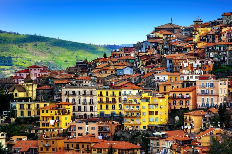 Stadt Rocca di Papa auf Alban Hills, Rom, Lazio, Italien stockfotos