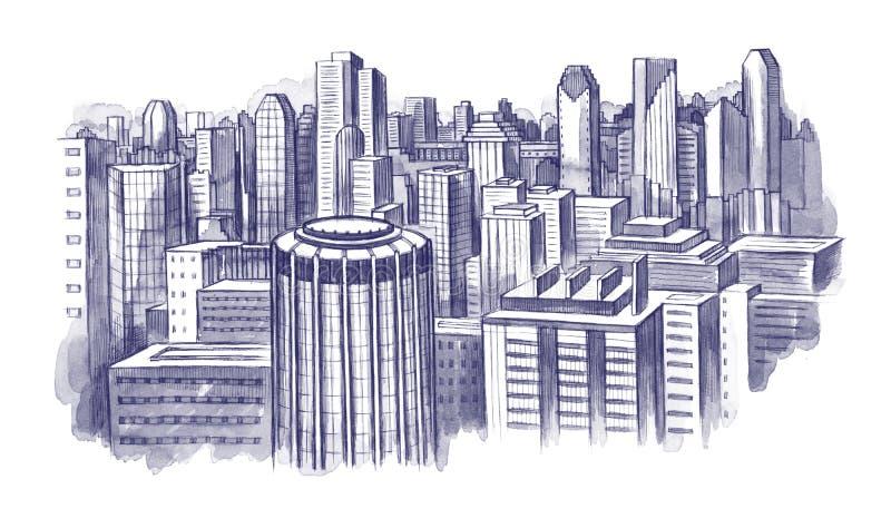 Stadt scape lizenzfreie stockbilder