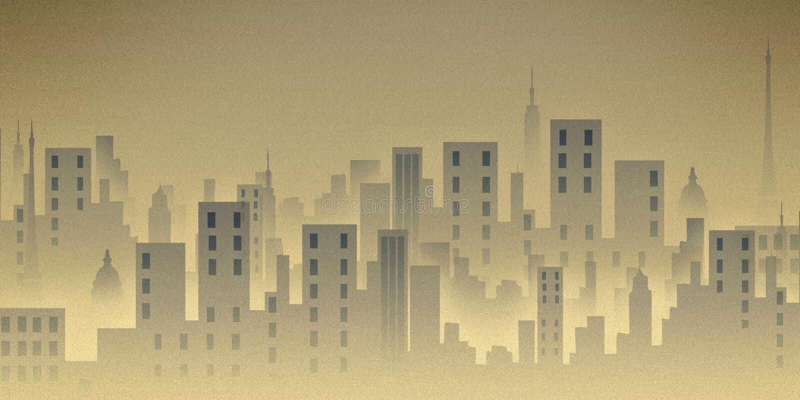 Stadt scape, Abbildung, Gebäude stock abbildung
