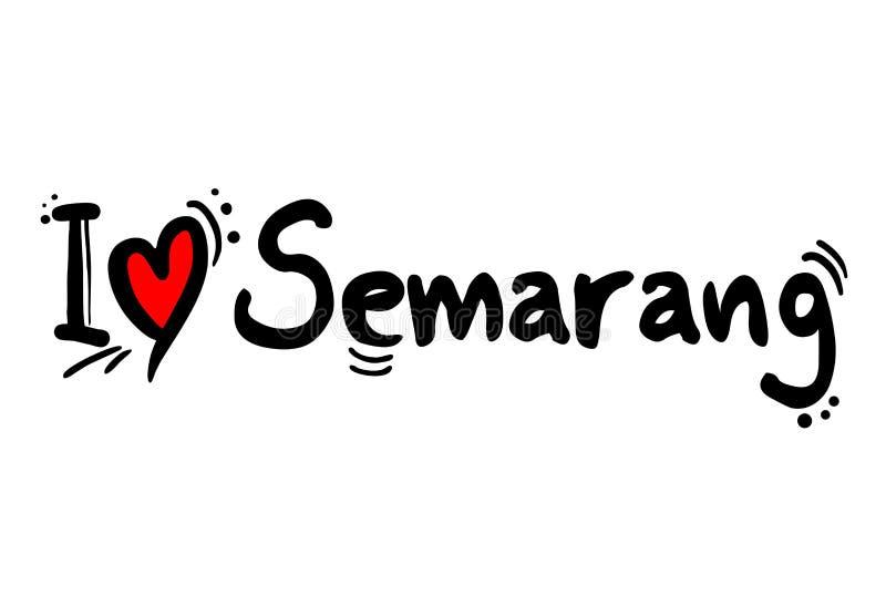 Stadt Semarangs, Indonesien lizenzfreie abbildung