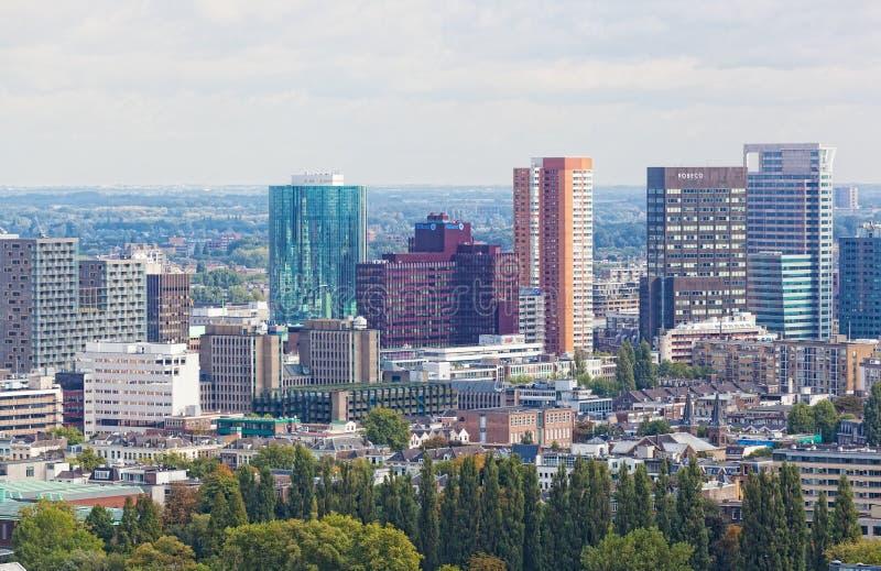 Stadt sieht Rotterdam an lizenzfreies stockbild