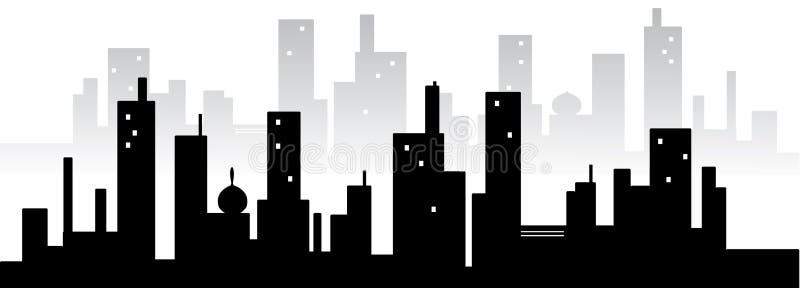 Stadt silhuette stock abbildung