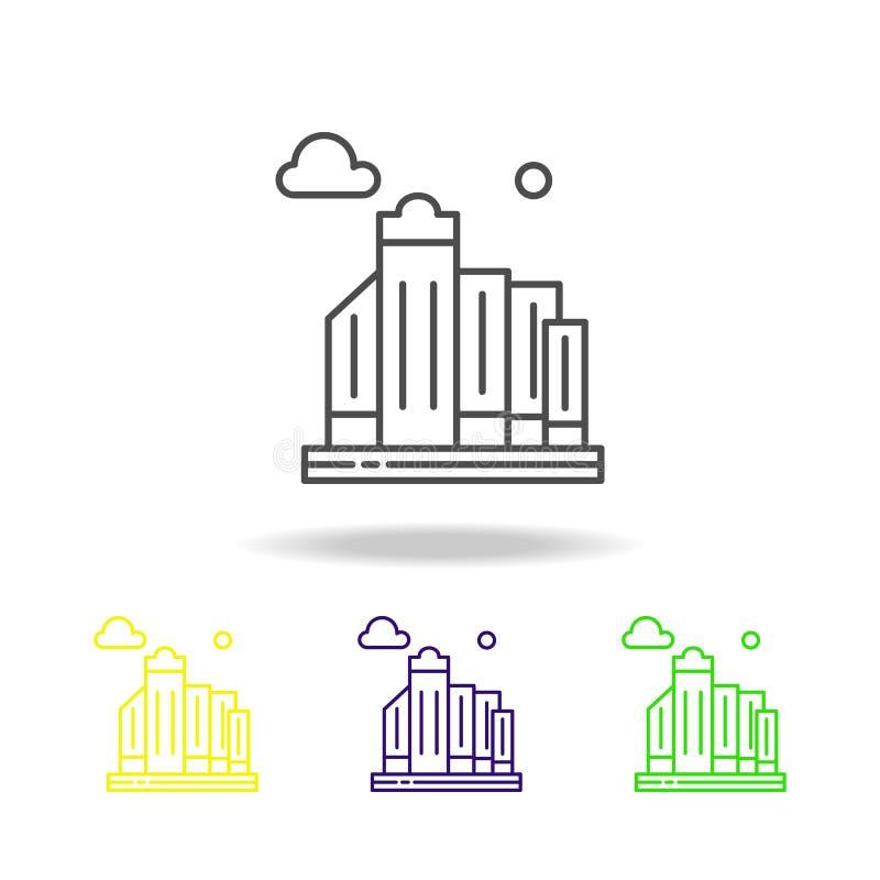 Stadt, Skyline, Gebäude farbige Ikone Kann für Netz, Logo, mobiler App, UI, UX verwendet werden vektor abbildung
