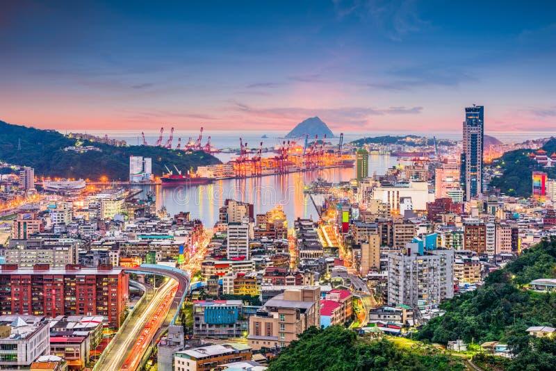 Stadt-Skyline Keelung, Taiwan lizenzfreie stockbilder