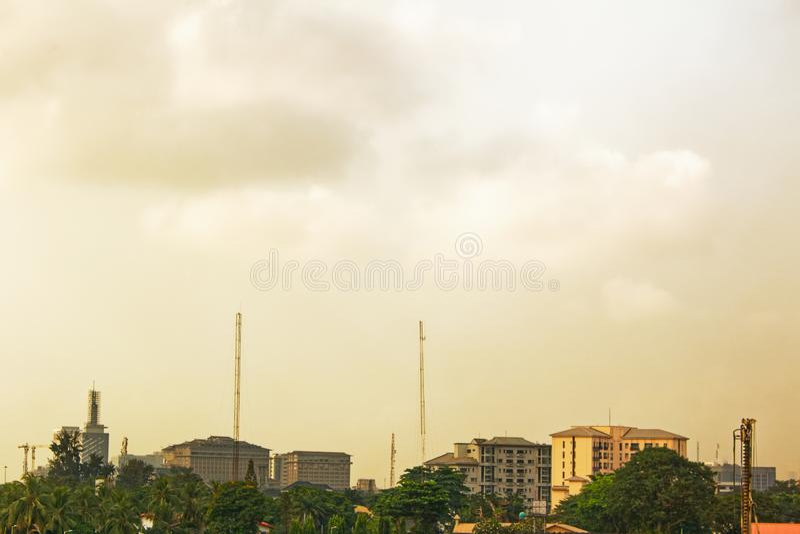 Stadt-Skyline - Lagos, Nigeria stockbilder