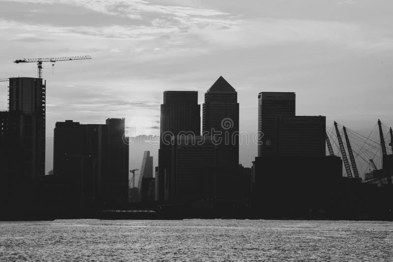 Stadt-Skyline-Schattenbild London stockfotografie
