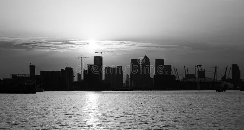 Stadt-Skyline-Schattenbild London stockfoto