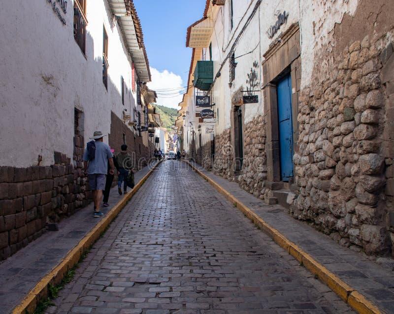 Stadt-Stra?en von Cusco stockbilder