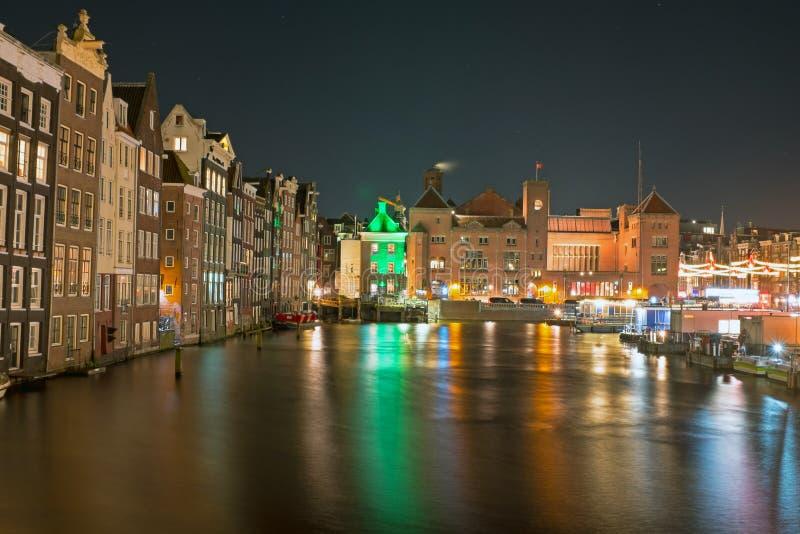 Stadt Szenisch Von Amsterdam Am Weihnachten In Den Niederlanden ...