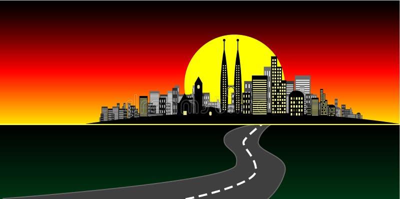 Stadt-Vektor lizenzfreie abbildung