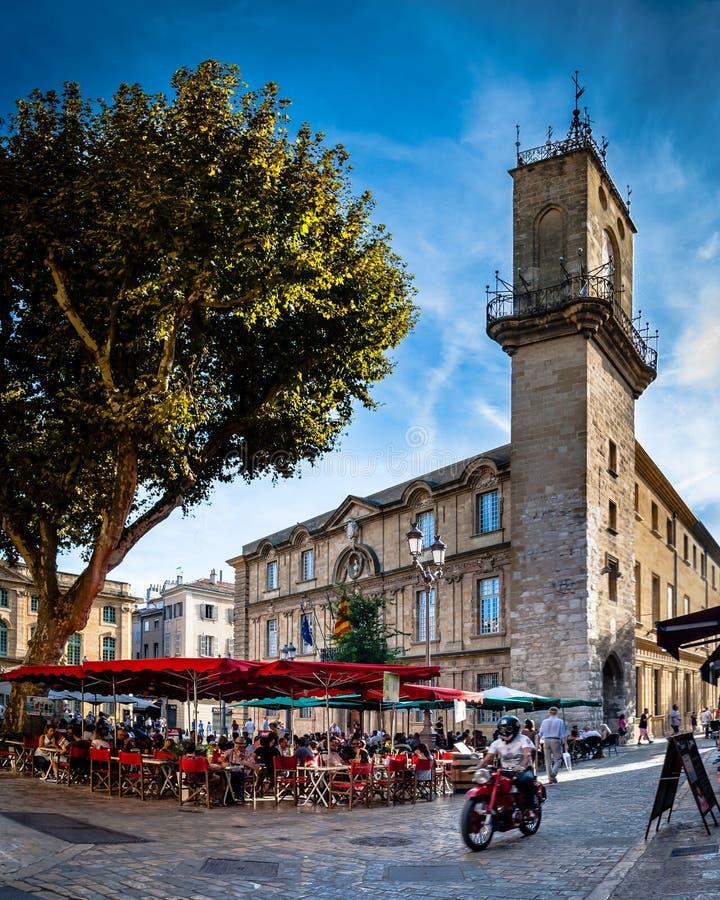 Stadt von Aix en Provence stockbilder