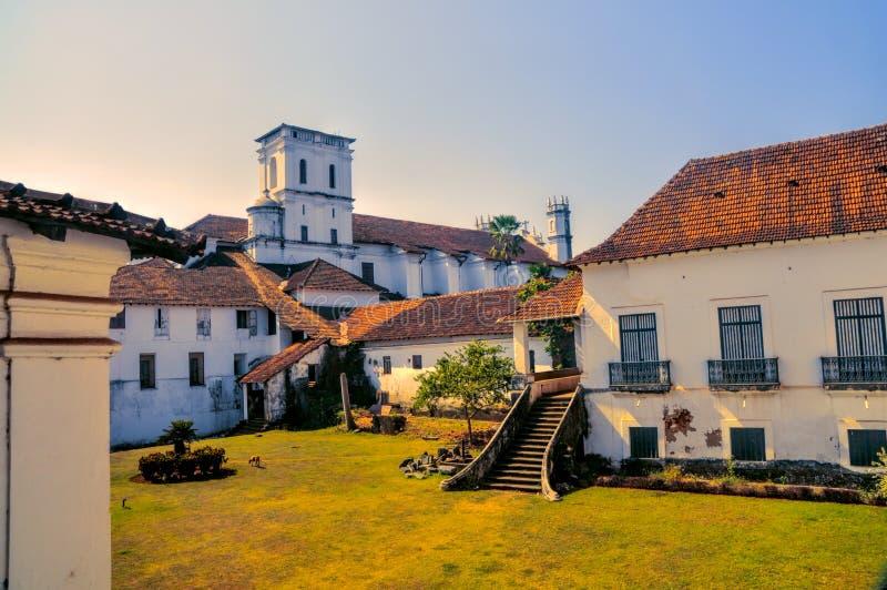 Stadt von altem Goa in Indien lizenzfreie stockfotos