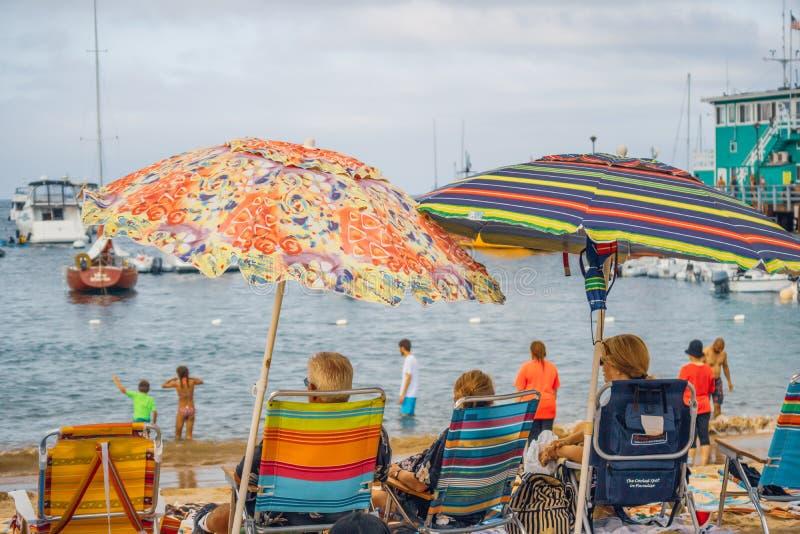 Stadt von Avalon, Catalina Island, CA lizenzfreie stockbilder