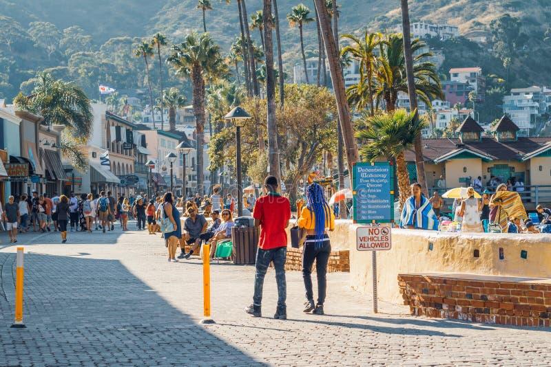 Stadt von Avalon, Street View Catalina Island, CA stockbild