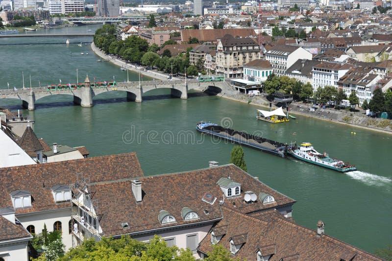 Stadt von Basel, die Schweiz lizenzfreies stockfoto