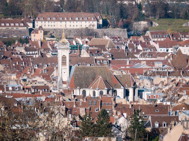 Stadt von Besançon, Frankreich stockfotos