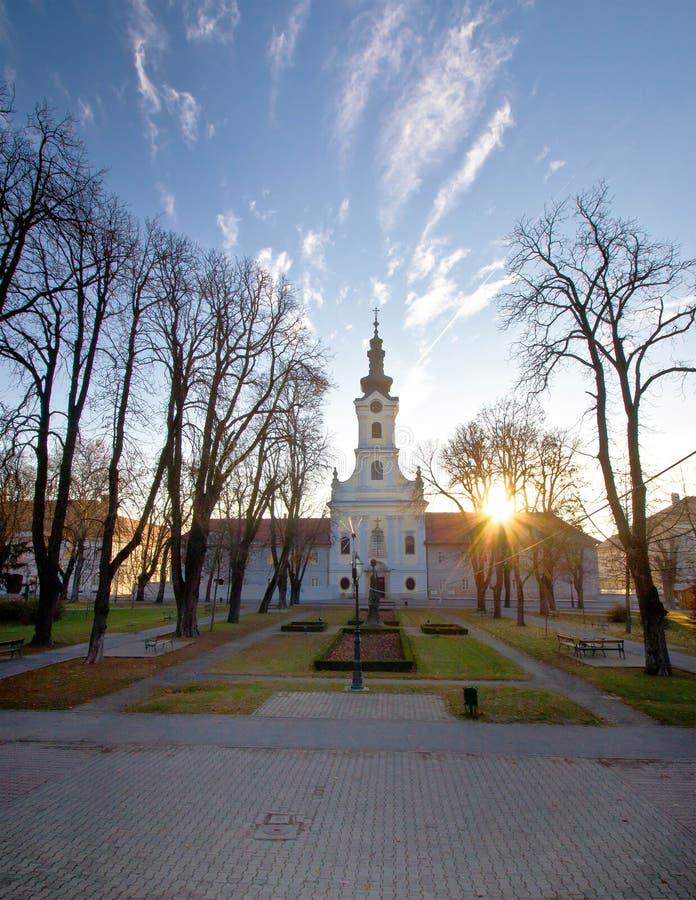 Stadt von Bjelovar-zentralem Platz lizenzfreies stockfoto