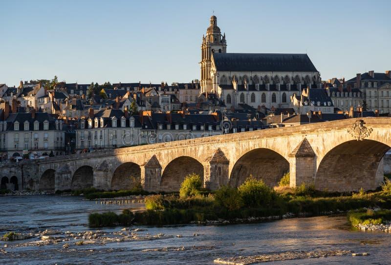 Stadt von Blois lizenzfreie stockbilder
