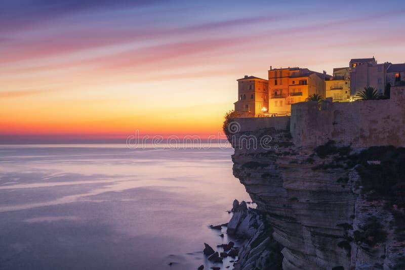 Stadt von Bonifacio, Korsika-Insel, Frankreich lizenzfreie stockfotografie